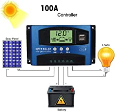 MMLC 40/50/60 / 100A Solar Panel Regler Laderegler 12 V / 24 V Autofokus Tracking Solar Panels Battery Charge Controller (D)