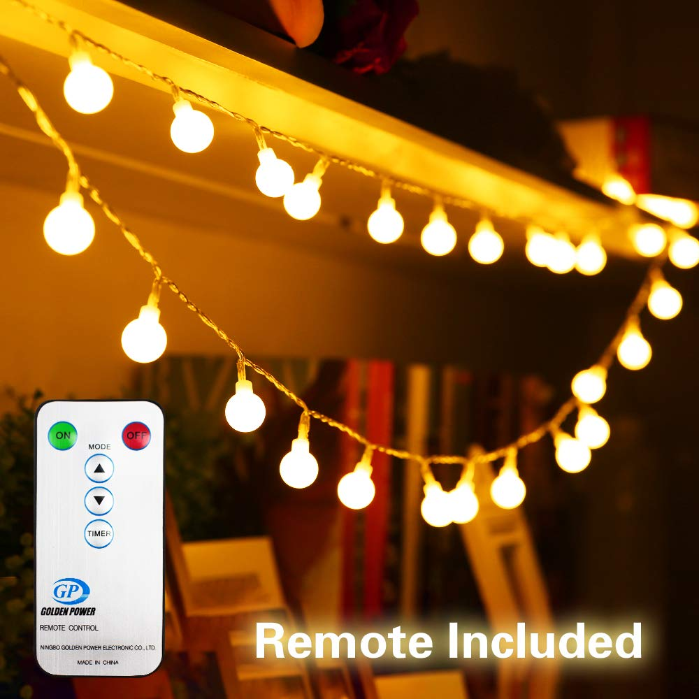 competitive price 9c212 fe014 33FT/10M 100 LED Fairy Lights Plug in Low Voltage Waterproof Garden Fairy  Light Indoor Outdoor String Lights with Remote & 8 Modes Controller | Xmas  ...
