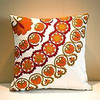 MeMoreCool Bohemia stile esotico Pillow Sham Exquisite stereoscopico ricamato cotone indiani Copricuscino Federa Copricuscino per 45,7x 45,7cm Style6