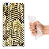 WoowCase Cubot X15 Hülle, Handyhülle Silikon für [ Cubot X15 ] Tier Haut der exotischen Schlange Handytasche Handy Cover Case Schutzhülle Flexible TPU - Transparent