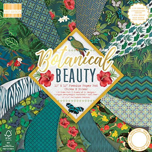 First Edition Botanical Beauty Premium Paper Pad 12