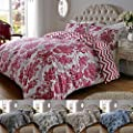 Luxury 200TC Damask Print Cotton Rich Duvet Quilt Cover & Pillow Case Bedding Set Double King Superking produced by ASAB - quick delivery from UK.
