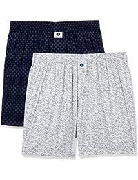 Amazon Brand - Symbol Men's Printed Boxers (Pack of 2)