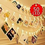 Lichterkette zur Weihnachtsdekoration, 10m, 80 helle LED-Lichter, Lichter-Kugeln, geeignet für den Garten, das Haus, Party, Hochzeit, PVC, 5m Led Clip, 10M, ROUND