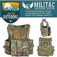 Militac - Chaleco táctico Delta,perfecto para airsoft, asalto, combate; incluye bolsillos portacargadores, MTP