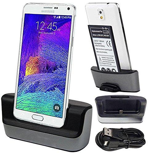 Galaxy Note 4 Ladegerät - Akku Ladestation, Atump USB 3.0 Desktop Aufladung Docking Station Cradle Pad - Unterstützung Aufladen Ersatz Akku für Samsung Galaxy Note 4 Handy Handy Ladegerät Dock (Akku Station)