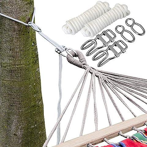 Kit para Colgar Hamacas a los Àrboles | Cuerda 6 m | Peso máximo soportado 160 Kg | Kits Completo