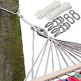 XXL Befestigung für Hängematte an Bäumen | Seilbefestigungsset 6 Meter | Belastbarkeit max. 160 KG | Komplettset thumbnail