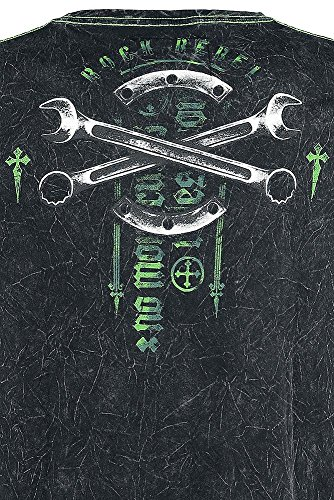 Rock Rebel by EMP Jaw Wrench T-Shirt grau Grau