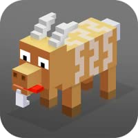 Crazy Cube Goat: Turbo Attack | 3D Animal Simulator Goat Sim Cute Pets Cube Craft Blocky Adventure Evolution Pixel Arcade
