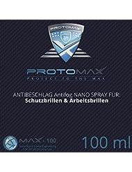 Proto Max Nano antiniebla Spray (antivaho) para Spray para gafas de seguridad & Gafas de trabajo, (20ml/100ml)