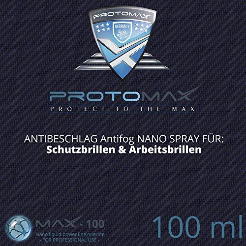 PROTOMAX Nano Antibeschlag Spray (Antifog) für Spray für Schutzbrillen & Arbeitsbrillen (100 ml)