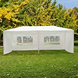 6m x 3m Gazebo Canopy Garden BBQ Party Patio Marquee PE Tent Camping Sun Shade White - High quality steel parts and PE cloth in excellent manufacturing for long term use.