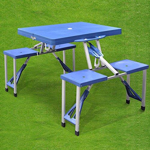 Preisvergleich Produktbild Generic Tisch,  mit Stühlen,  Picknicktisch,  RS BB,  Camping,  Gartentür,  tragbar,  zusammenklappbar,  Gartenset
