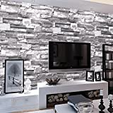 MultiWare Wallpaper Roll 3D Victorian Damask Luxury Embossed Wall Paper Roll Brick Wallpaper Gray