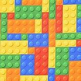 Jersey Digitaldruck Retro Lego Bausteine bunt