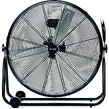 Bastilipo Huracán - Ventilador industrial de suelo, 60 cm, cabezal orientable, 140 W, color negro