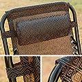 Merax® klappbare Sonnenliege in Schwarz Relaxliege mit abnehmbaren Kopfkissen Liegestuhl Strandliege aus Textilene von QDT bei Gartenmöbel von Du und Dein Garten