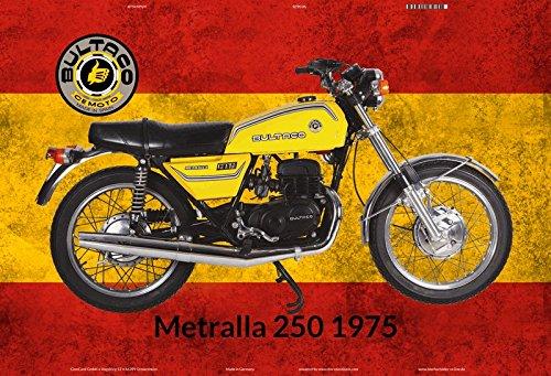 Bultaco Metralla 250 1975 Spanien motorrad blechschild (Bultaco Motorräder)