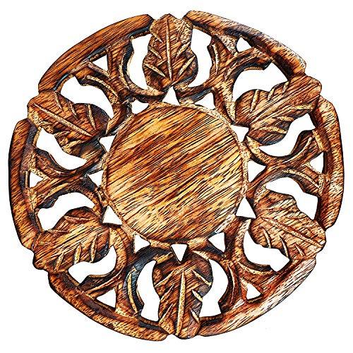 Salvamanteles madera hecho mano platos calientes macetas