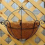 Interesting® Hanging Basket Planter Coconut Eisen-Kunst-Wand-Blumen-Topf