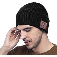 MEckily Cappello Bluetooth,Berretto Bluetooth 5.0 Musica Cappello, Cappello Sportivo da Esterno Campeggio Sci, Ultra…