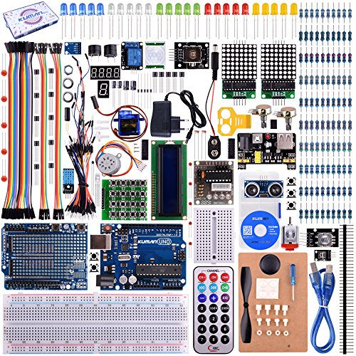Preisvergleich Produktbild Starter Kit for Arduino UNO Kuman Upgraded Version Full Ultimate Starter Kit for Arduino MEGA 2560 Microcontroller and Lots of Accessories for Arduino UNO MEGA2560 Nano Robot K27