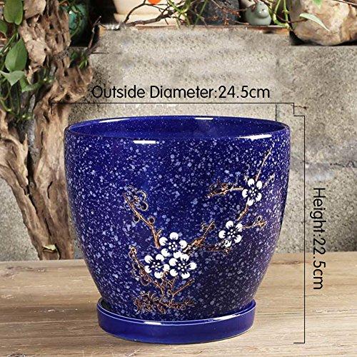 Nclon Keramikplatten Fließenden Glasur Pflanze Pot Blume Pot Pflanze Pflanzer,Dauerhaft Rich...
