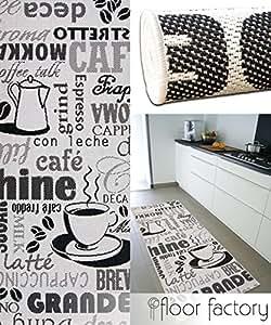 Tappeto cucina cappuccino bianco e nero 80x200 cm for Piani domestici a buon mercato