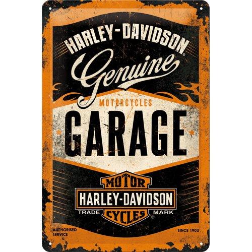 Nostalgic Art Harley Davidson Garage - Placa decorativa, metal, 20 x 3