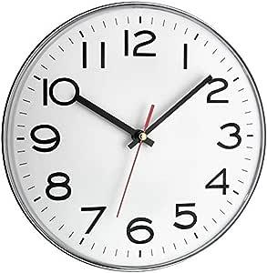 TFA Dostmann Analoge Wanduhr, Kunststoff, Weiß, (L) 280 x (B) 40 x (H) 280 mm