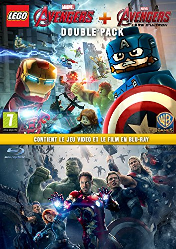 Coffret Marvel s Avengers : Marvel s Avengers PS4 + Avengers 2 l ère d Ultron Blu-Ray