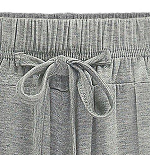 YiLianDa Donna Taglie Forti Pantaloni Harem Donna Lunghezza Elasticizzato Pantaloni Casual Grigio(lungo)