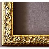 Bilderrahmen Mantova Gold 3,1 - LR - 60 x 60 cm - 500 Varianten - alle Größen - handgefertigt - Galerie-Qualität - Antik, Barock, Modern, Shabby, Landhaus - Fotorahmen Urkundenrahmen Posterrahmen