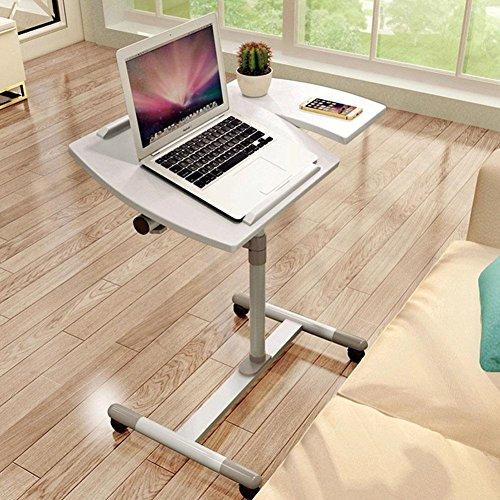 Einfacher beweglicher justierbarer stehender Laptop Schreibtisch. , white Gaming-hutch