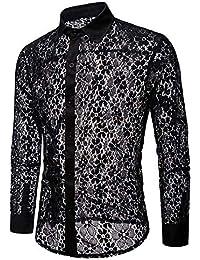 di it Abbigliamento Amazon Uomo XL camicia pizzo 1Exv8