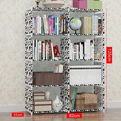 GEXING Double Rangée Amovible De Bibliothèques Pour Améliorer La Collection D'étages Multifonctions Pour Bibliothèque,D-82*31*125cm