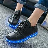 KIPTOP 7 Farbe USB Aufladen LED Leuchtend Sport Schuhe Schwarz weiß Sneaker für Unisex-Erwachsene Herren Damen für Damen Herren