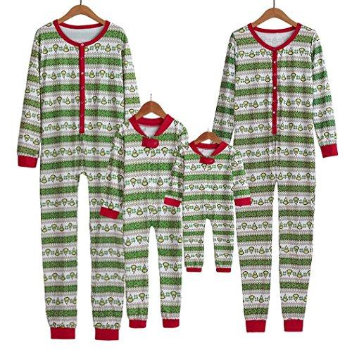 Navidad Ropa para toda la familia, Yannerr bebé niño mujeres hombre madre hija manga larga invierno caliente empareja blusa camiseta Tops pijamas trajes mono conjunto de dormir adulto (14Años)