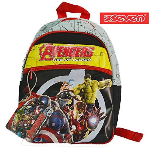 Zaino Asilo Seven The Avengers Cartella Scuola Materna Bambino