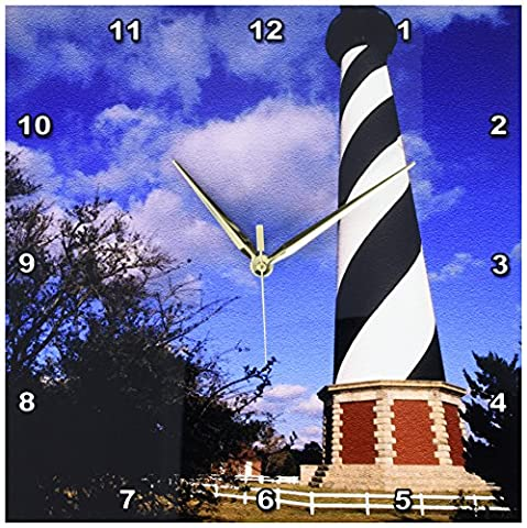 3dRose Cape Hatteras Lighthouse, North Carolina US34 BBA0000 Bill Bachmann Wall Clock, 13 by 13
