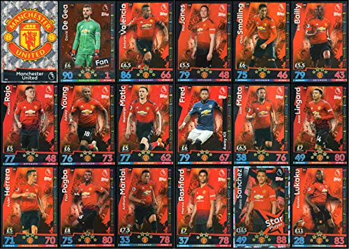 MATCH ATTAX 2018/19 18/19 MANCHESTER UNITED FULL 18 CARD TEAM SET – MAN UTD