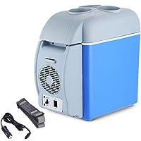Vasukie Mini Refrigerator Portable Freezer Cooler Warmer Fridge for Auto Car Travel (Blue, 7.5 L)