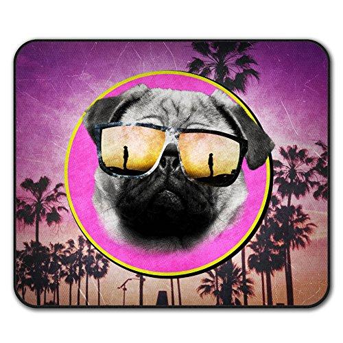 Cool Mops Brille Niedlich Hund Mouse Mat Pad, Cool Rutschfeste Unterlage - Glatte Oberfläche, verbessertes Tracking, Gummibasis von Wellcoda