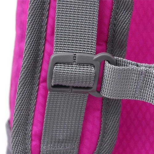 FFZH Viaggio all'aperto di borse a tracolla per uomini e donne, Zaini di grande capacità , red pink