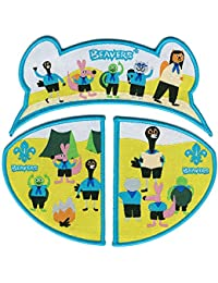 Beaver Scout 3 Part Fun Badge - Together Makes a Beaver Face
