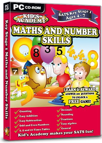 Kid's Academy - Key Stage 1 Maths and Number Skills  - 4-7 Years (PC CD) Test
