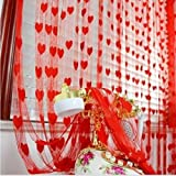 iLiv Red Heart Curtain - 7ft
