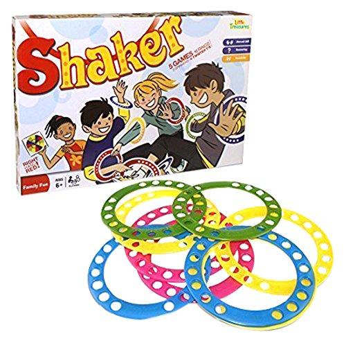 Little Treasures Twisting Shaker Game 5-in-1 Twister Game, Hands on Kids interacting indoor or Out Door Game
