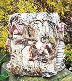 Keramik Windlicht Baumstamm